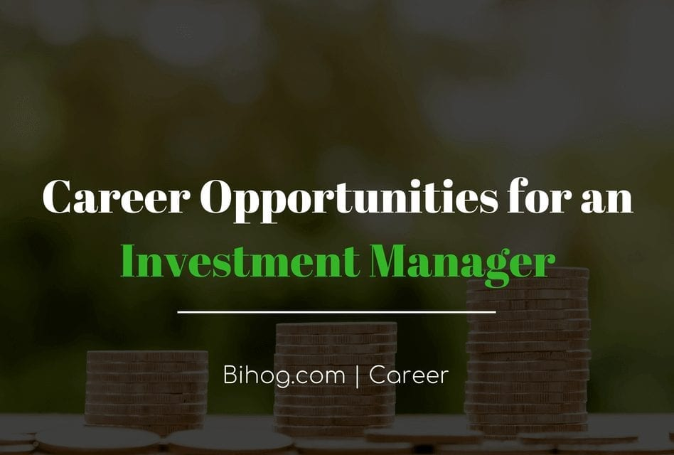 Career opportunities of an investment manager (Feature)